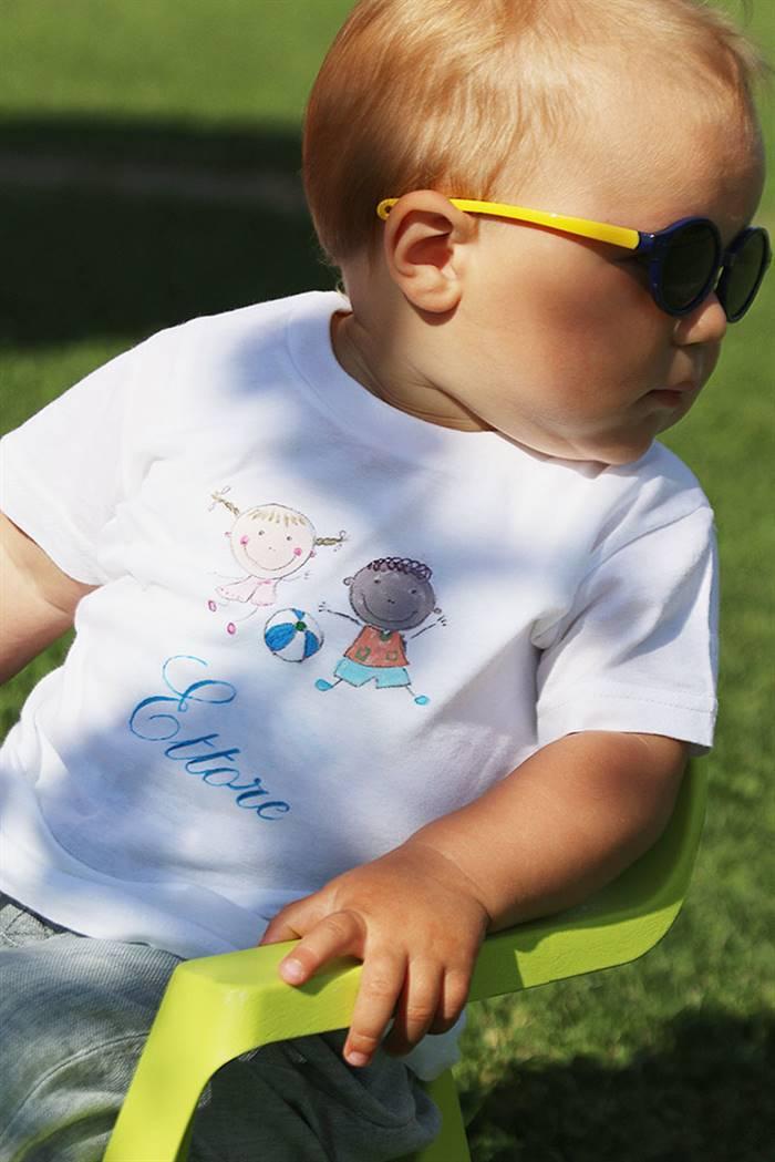 Maglietta mezza manica 100% cotone dipinta a mano, personalizzabile
